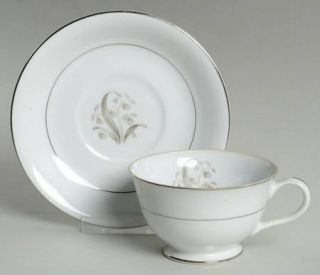 Fine China of Japan Lily Of The Valley Footed Cup & Saucer Set, Fine China Dinne