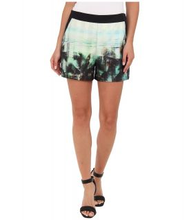 Ted Baker Jasiri Palm Tree Paradise Print Womens Shorts (Pink)