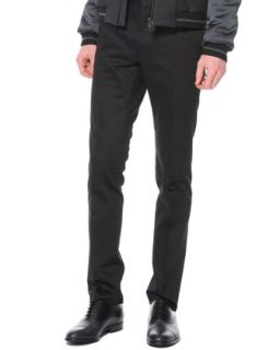 Mens Techno Stretch Skinny Pants, Black   Lanvin   Black (48)