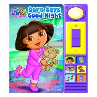 Nickelodeon Dora the Explorer Dora Says Good Night (Dora the Explorer Play a Sound) Editors of Publications International Ltd., Jennifer H. Keast, A & J Studios 9781450807647  Kids' Books