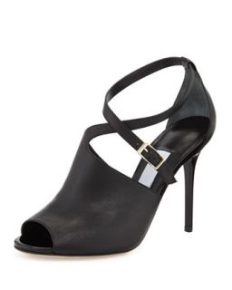 Leigh Asymmetric Crisscross Glove Sandal   Jimmy Choo   Black (39.5B/9.5B)