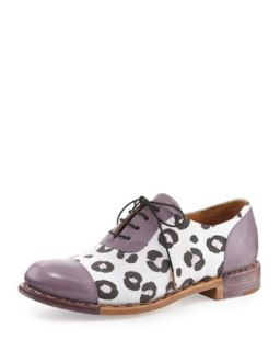 Mr. Hampton Leopard Print Oxford, Purple/White   The Office of Angela Scott