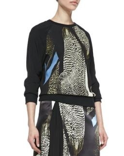 Womens Reed Audubon Printed Sweatshirt   Reed Krakoff   Brown multi (LARGE)