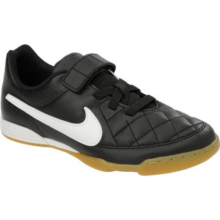 NIKE Kids Jr. Tiempo V4 IC AF Low Soccer Shoes   Size: 12, Black/white