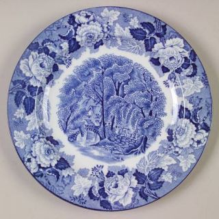 Enoch Wood & Sons English Scenery Blue (Blue Backs,Smooth) Dessert/Pie Plate, Fi