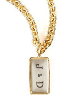 Mini Initial ID Tag   Heather Moore   Silver