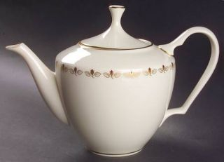 Lenox China Romance Teapot & Lid, Fine China Dinnerware   Rosebuds Inner Ring, G
