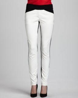 Womens Kellan Positive/Negative Ponte Pants   Alice & Trixie   Black/Ivory (X