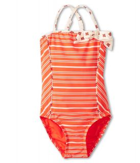 Little Marc Jacobs Bandeau Maillot Girls Swimsuits One Piece (Red)