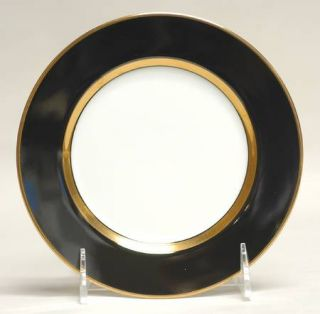 Fitz & Floyd Renaissance Black On White Bread & Butter Plate, Fine China Dinnerw