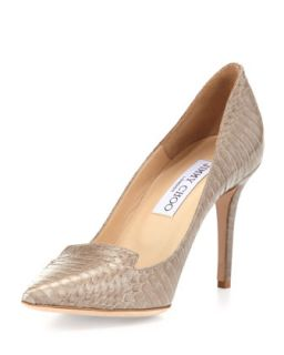 Alia Snakeskin Pump, Pebble   Jimmy Choo   Pebble (40.5B/10.5B)