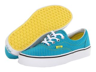 Vans Era Enamel Blue/Blazing Yellow) Skate Shoes (Green)