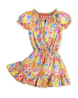 Floral Print Dobby Dress, Girls 4 6X   Ralph Lauren Childrenswear