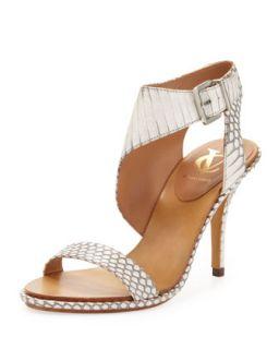 Pikora Snake Ankle Strap Sandal, Natural   VC Signature   Natural (35.5B/5.5B)
