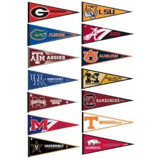 SEC College Pennant Set  Sports Related Pennants  Sports & Outdoors