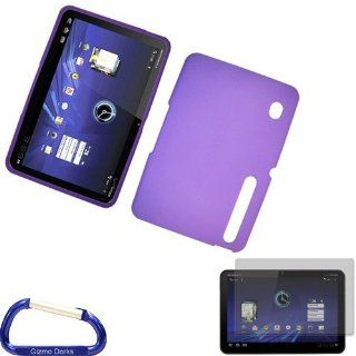 Gizmo Dorks Rubberized Hard Case Shell (Purple) and Screen Protector with Carabiner Key Chain for the Motorola Xoom Tablet Computers & Accessories