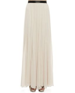 Womens Dawn Leather Waist Maxi Skirt   Alice + Olivia   Nude (6)