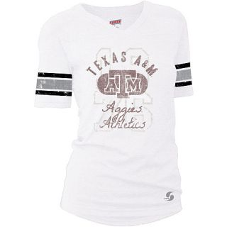 SOFFE Womens Texas A&M Aggies Drop Tail Football Alternate Logo Short Sleeve T