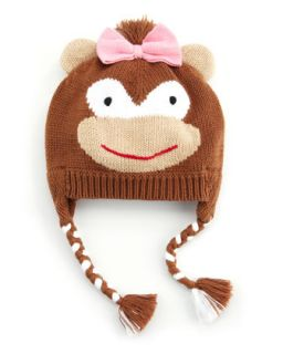 Girls Ballerina Monkey Hat, Red   Zubels   Brown (0/6)