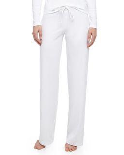 Womens Tricot Relaxed Pants, White   La Perla   White (PETITE/1)