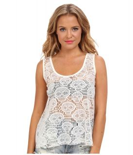 Ali & Kris Skull Lace Tank Top Womens Sleeveless (Beige)