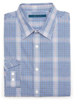 Perry Ellis Mens Ombre Check Shirt