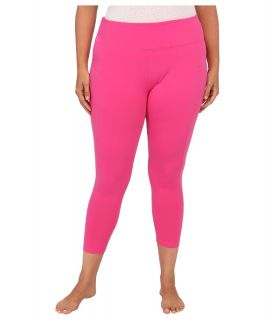 MSP by Miraclesuit Plus Size Crop Pant Legging with Core Control Womens Workout (Pink)