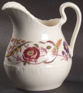Wedgwood Cornflower Creamer, Fine China Dinnerware   Shelledge, Multicolor Flora