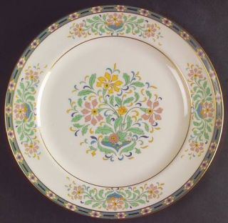 Lenox China Mystic Luncheon Plate, Fine China Dinnerware   Multicolor Band & Flo