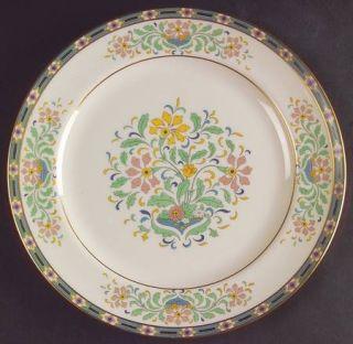 Lenox China Mystic Luncheon Plate, Fine China Dinnerware   Multicolor Band & Flo
