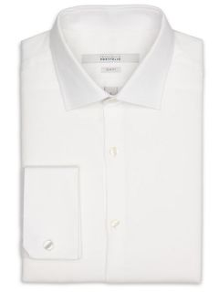 Perry Ellis Mens Slim Fit French Cuff Dress Shirt
