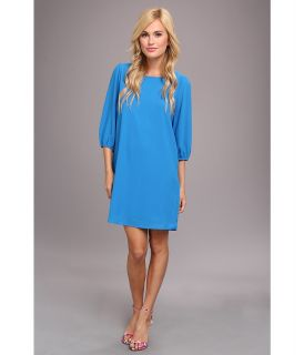 Brigitte Bailey Angie 3/4 Sleeve Shift Dress Womens Dress (Blue)