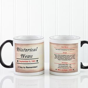 Personalized Coffee Mugs   The Day You Were Born