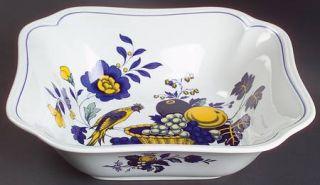 Spode Blue Bird Fine Stone 9 Square Vegetable Bowl, Fine China Dinnerware   Blu