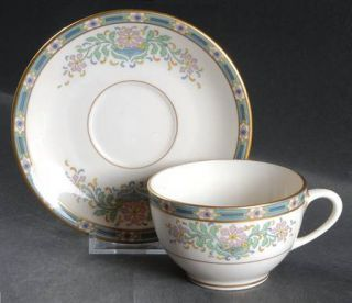 Lenox China Mystic Flat Cup & Saucer Set, Fine China Dinnerware   Multicolor Ban