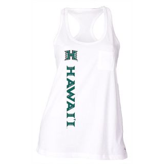 SOFFE Womens Hawaii Rainbow Warriors Pocket Racerback Tank Top   Size: