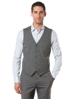 Perry Ellis Mens Large Check Vest