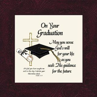 "Graduation Saying Framed Inspirational Gift 4"" X 4"" with Built in Easel   Single Frames"