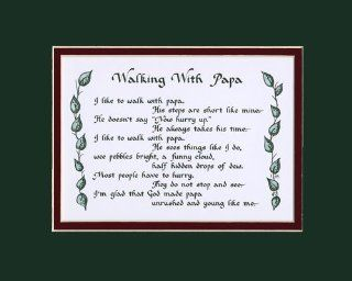 Walking With Papa Family Saying Home Decor Wall Sign   Decorative Plaques