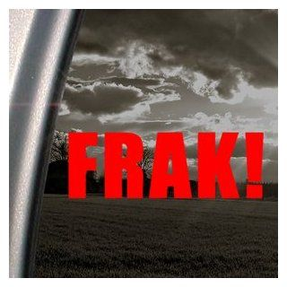 FRAK! Battlestar Galactica Saying Red Decal Car Red Sticker: Automotive
