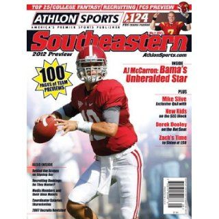 Athlon Sports 2012 College Football Southeastern (SEC) Preview Magazine  Alabama Crimson Tide Cover: Athlon Sports: Books