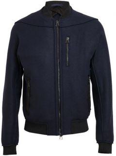 Lanvin Felt Wool Bomber Jacket