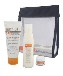 Nutrius to Go Skin Care Travel Gift Set Kit, As Seen on Tv, Includes Facial Cleanser 2 Oz, Miracle Face Lift 2 Oz, Miracle Eye Cream .15 Oz : Facial Cleansing Products : Beauty