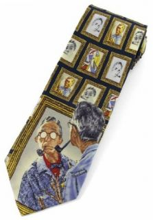 "Norman Rockwell ""Triple Self Portrait"" Tie: Clothing"