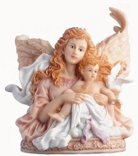 "Seraphim Classics Heaven Sent Collection Exclusively by Roman ""Peaceful Embrace"" Musical Figure   Collectible Figurines"