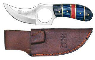 "6"" Deer Creek Skinner Knife ASSORTED COLORS SENT AT RANDOM (GREEN BLACK OR BLUE BLACK)  Hunting Fixed Blade Knives  Sports & Outdoors"