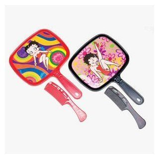 "BETTY BOOP HAND MIRROR AND COMB SET   ASSORTED DESIGNS AND COLORS SENT AT RANDOM  Size 8"" mirror 6 �"" comb: Toys & Games"
