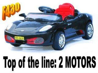 RIDE ON SPORTS CAR FERRARI F430 ELECTRIC BATTERY OPERATED Car 2 Motors Power Kids Ride On wheels Remote RC (BLACK OR NEXT AVAILABLE COLOR SENT AT RANDOM) : Other Products : Everything Else