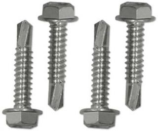 Snap Loc AM HSDDS PU 4 Piece Zinc Plated Steel Self Driller Screw Double Set, For Fastening 2 Snaplocs (Pack of 25): Self Drilling Screws: Industrial & Scientific