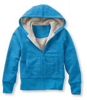Girls Fleece Lined Camp Sweatshirt Hoodie, Heather Girls